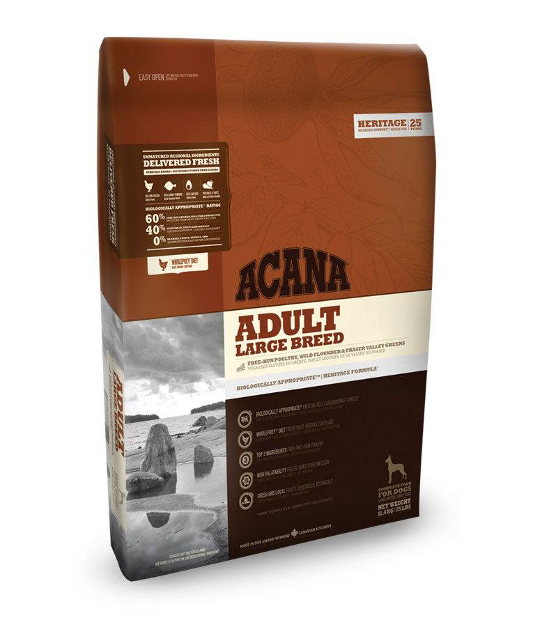Acana Heritage Adult Large Breed 17kg plus DOPRAVA ZDARMA!