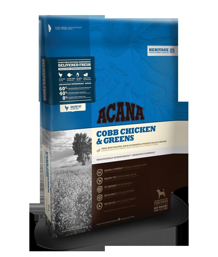 Acana Heritage Chicken a Greens 11,4kg plus DOPRAVA ZDARMA