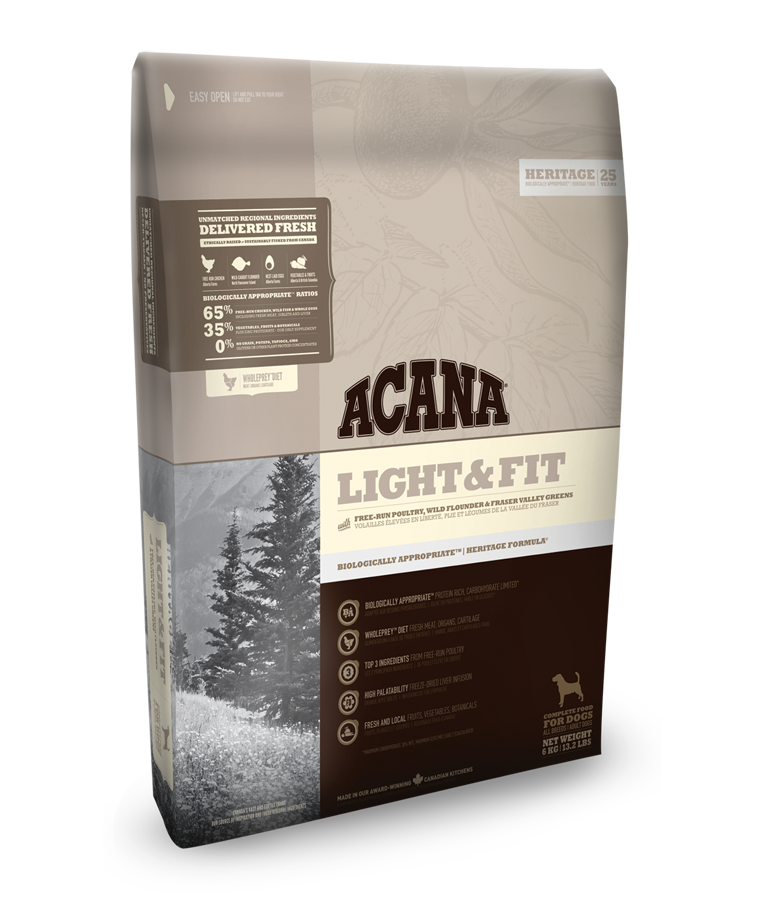 Acana Heritage Light a Fit 11,4kg plus DOPRAVA ZDARMA