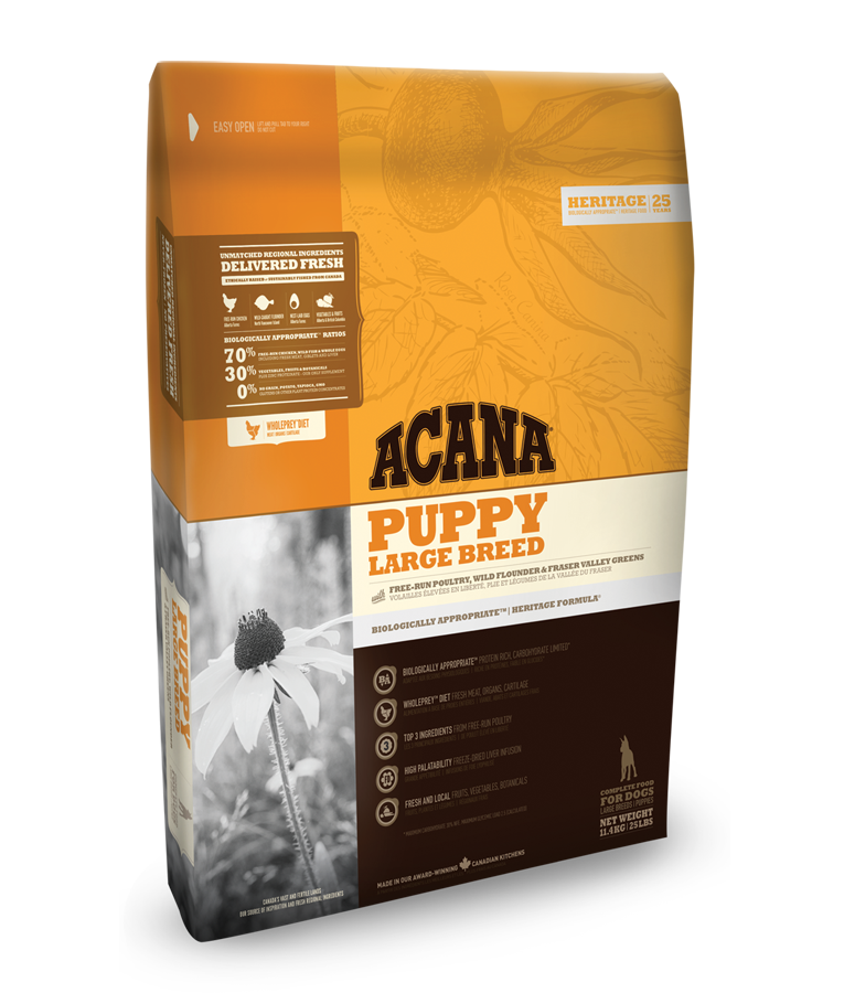 Acana Heritage Puppy Large Breed 11,4kg plus DOPRAVA ZDARMA