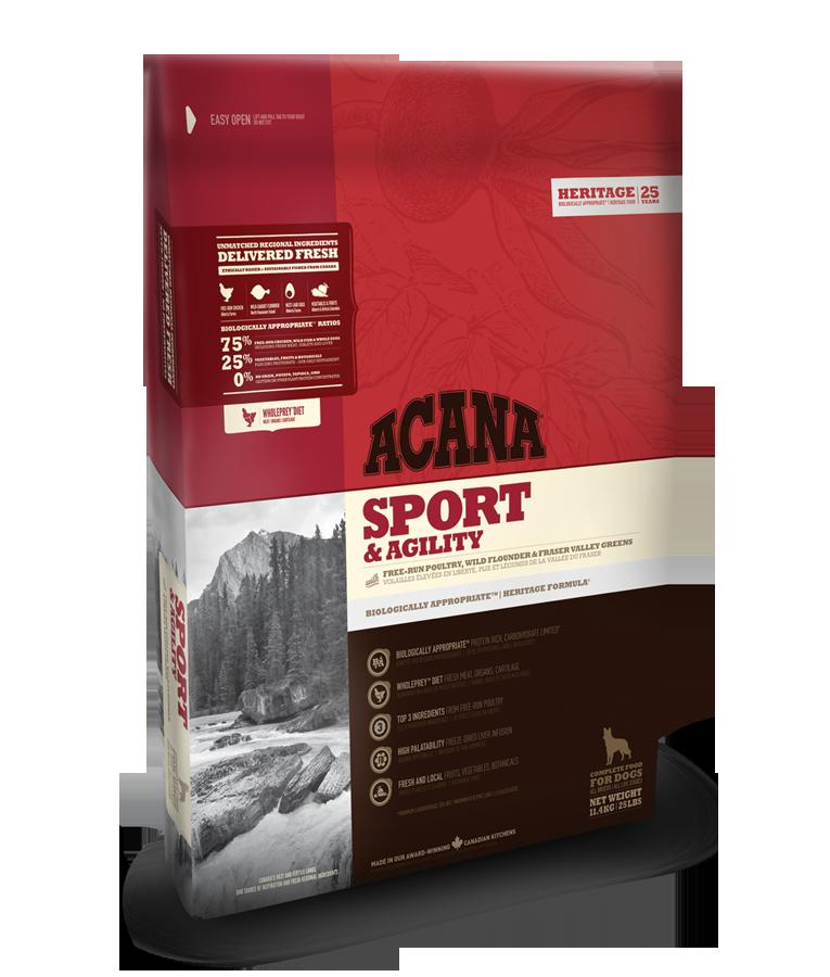 Acana Heritage Sport a Agility 17kg plus DOPRAVA ZDARMA!