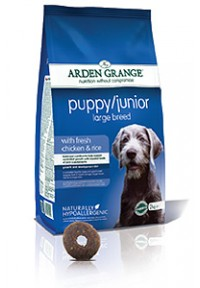 Arden Grange Puppy Junior Large Breed with fresh Chicken a Rice 12kg plus DÁREK a DOPRAVA ZDARMA!