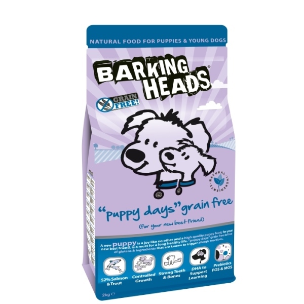 Barking Heads Puppy Days Grain Free 2kg plus DÁREK!