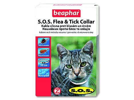 Beaphar obojek antiparazitní S.O.S Flea a Tick Collar kočka 35cm