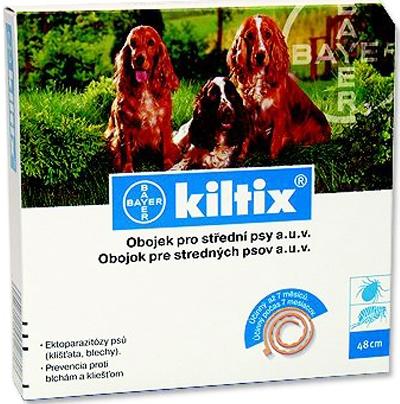 Kiltix antiparazitní obojek pro střední psy 53cm