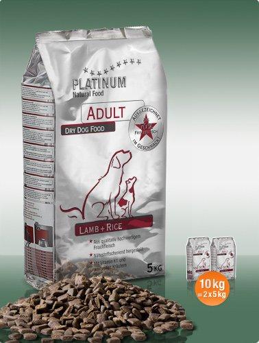 Platinum Natural Adult Lamb a Rice 10kg plus DÁREK!