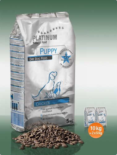 Platinum Natural Puppy Chicken 10kg plus DÁREK!