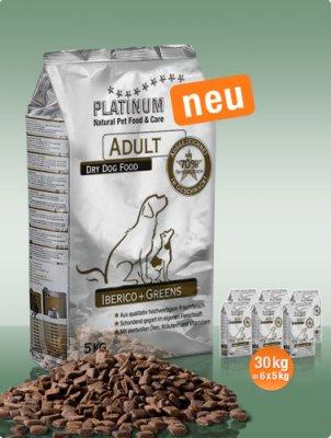 Platinum Natural Adult Iberico a Greens 30kg plus DÁREK a DOPRAVA ZDARMA!
