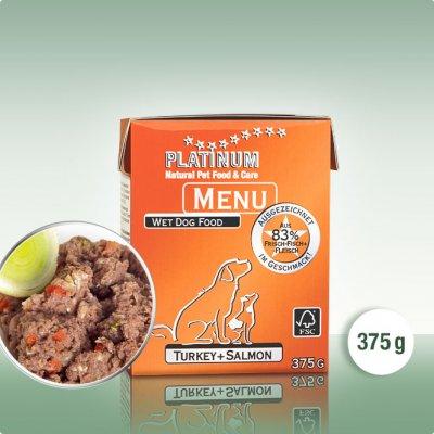 Platinum menu krocan plus losos 375g