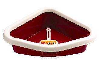 Toaleta rohová červená 40x56x14cm
