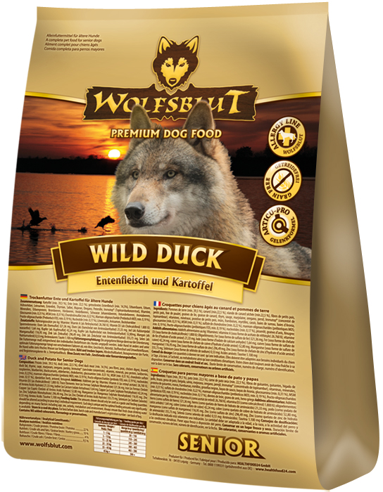 Wolfsblut Wild Duck Senior 15kg plus DOPRAVA ZDARMA!